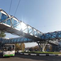 """Пешеходный переход у ТЦ """"Лига"""" в г.Химки"""