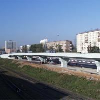 Железобетонная эстакада съезда с ТТК на Шарикоподшипниковскую ул. (2001 г.)